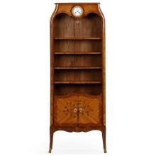 Excellent Louis XV Style Marquetry Inlaid Bibliotheque Bookcase c. 1900