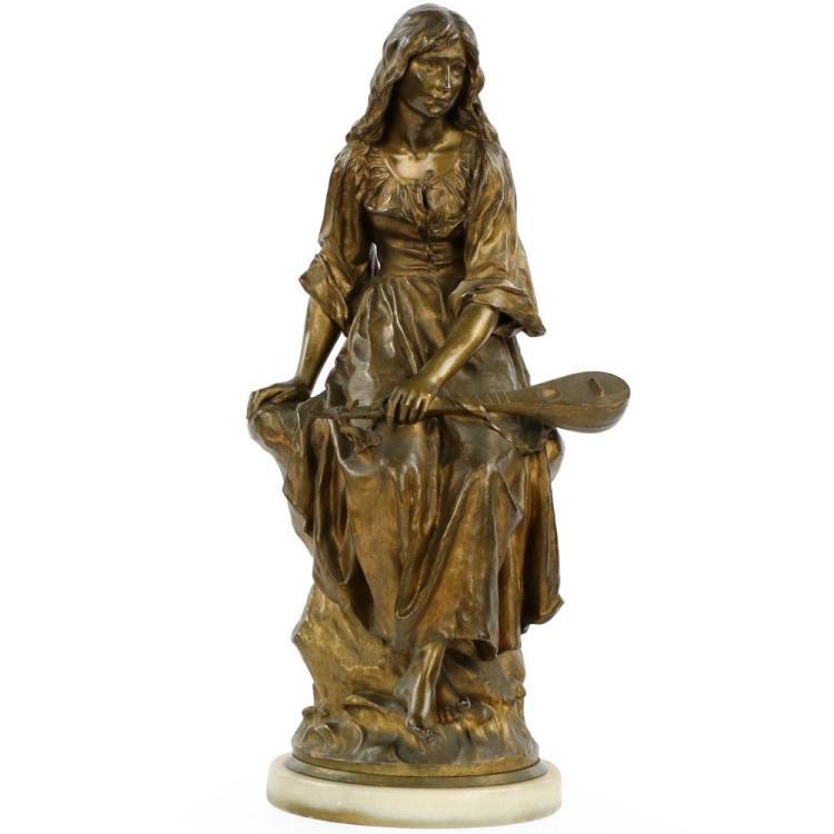 Paul Eugene Mengin (French, 1853-1937) Bronze Sculpture of Mignon, Susse Freres