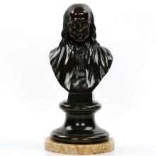 French Patinated Bronze Sculpture of Benjamin Franklin, 19th Century