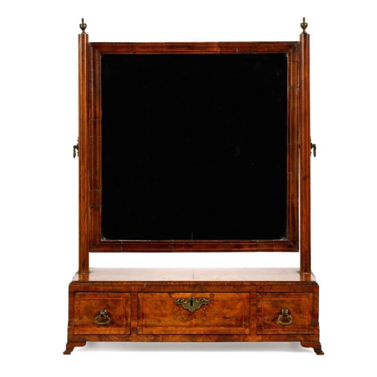 English Queen Anne Walnut Dressing Mirror c. 1715