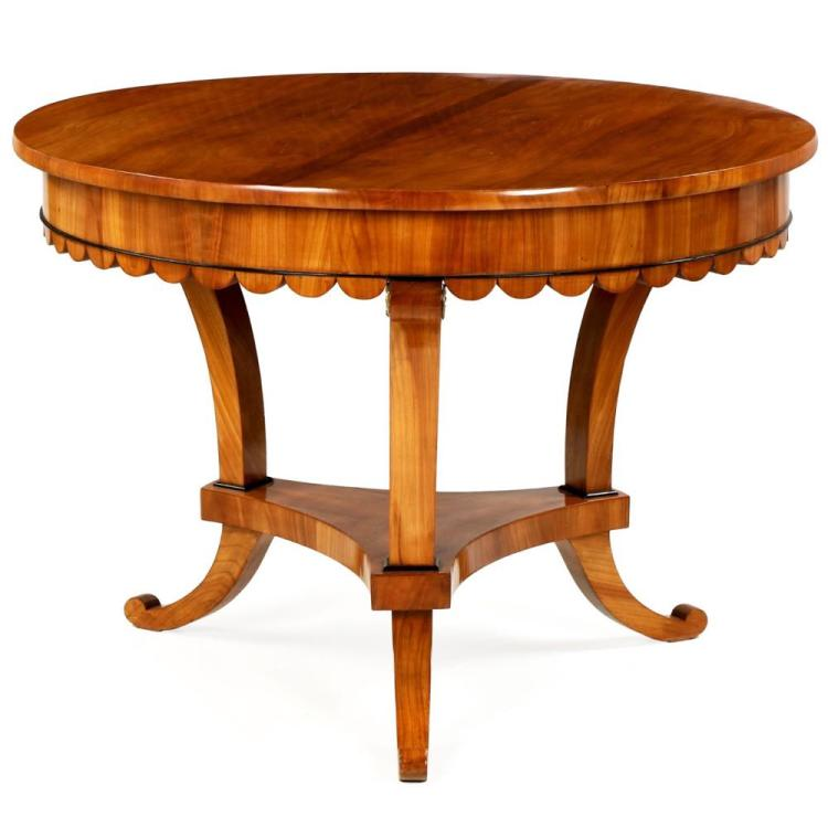 Very Fine Biedermeier Cherry Center Table, Austria, 19th Century
