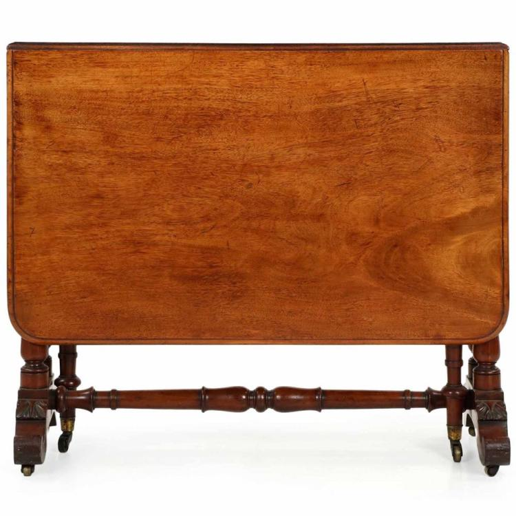 English Regency Mahogany Sunderland Table, Mid 19th Century