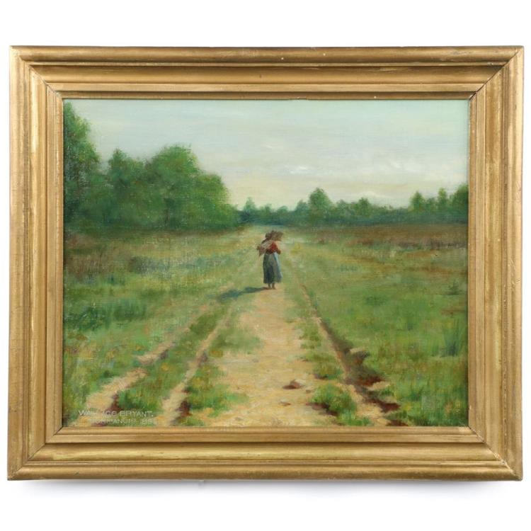 Wallace Bryant (American, 1870-1953) Antique Oil Painting, Signed c. 1895