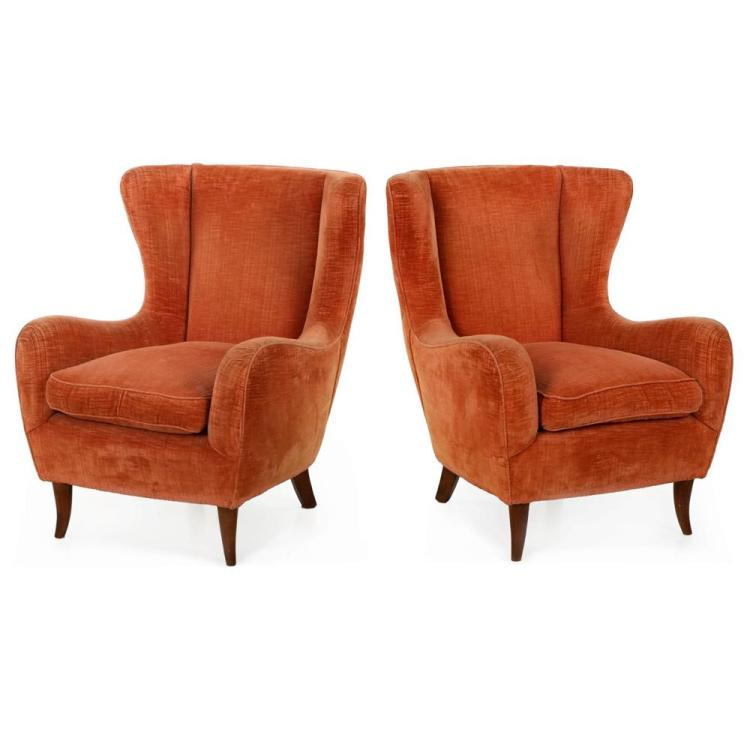 PAIR OF VINTAGE MID-CENTURY MODERN SCULPTED LOUNGE CHAIRS