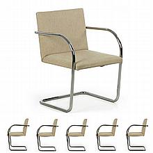 Set of Six Mies van der Rohe for Knoll BRNO Dining Chairs c. 1979, 604ION30