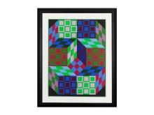 Carden, Ltd Ed Silk-screen, Victor Vasarely