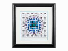 Vega, Ltd Ed Screenprint, Victor Vasarely