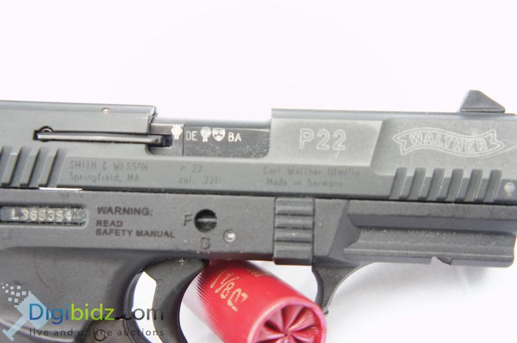 Lot 30: Walther P22 10 Round .22 Automatic Pistol