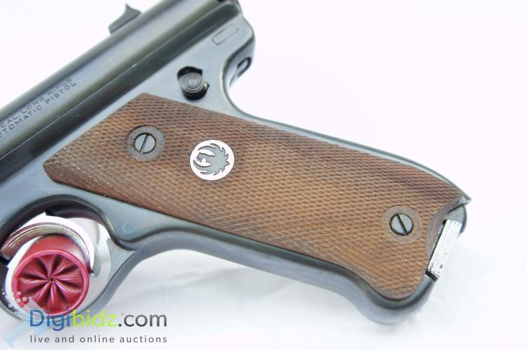 Lot 38: Sturm Ruger and Co. Mark I Target 8 Round .22LR Semi-Automatic Hand Gun