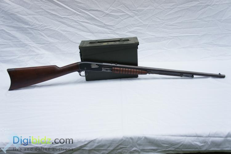 Lot 49: Remington 12C Octagon Barrel Pump Action .22LR/S/L Rifle