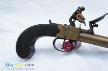 Lot 50: Pair of Blunderbuss Flintlock Pistols by JW Richards - London