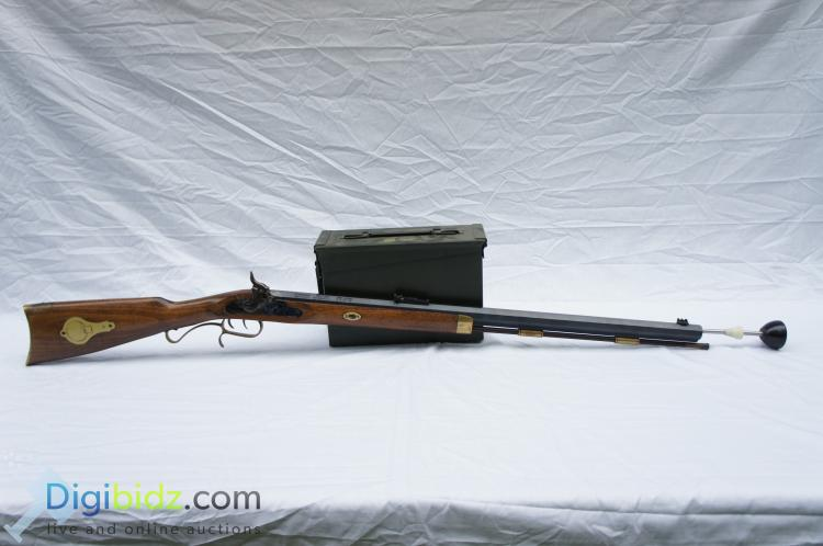 Lot 55: Traditions Hawken Woodsman Traditions .50 Call 166 twist Black Powder Rifle