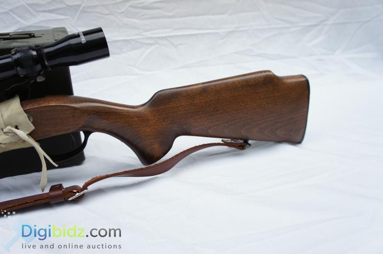 Lot 57: Hawken Carbine .50 Cal Black Powder Rifle with Tasco Scope