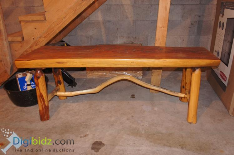 Lot 62: Timber Live Edge Bench