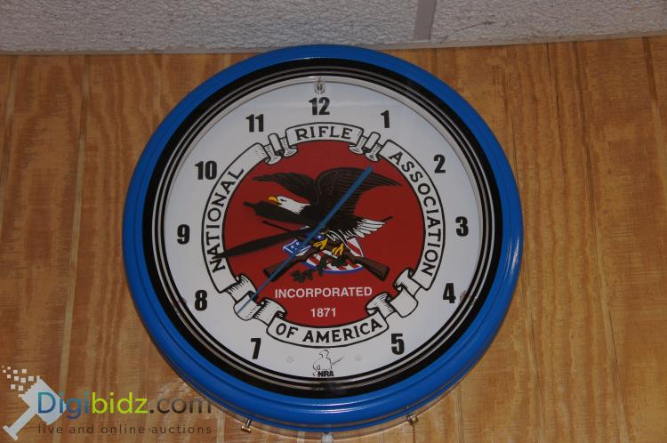 Lighted Large NRA Wall Clock