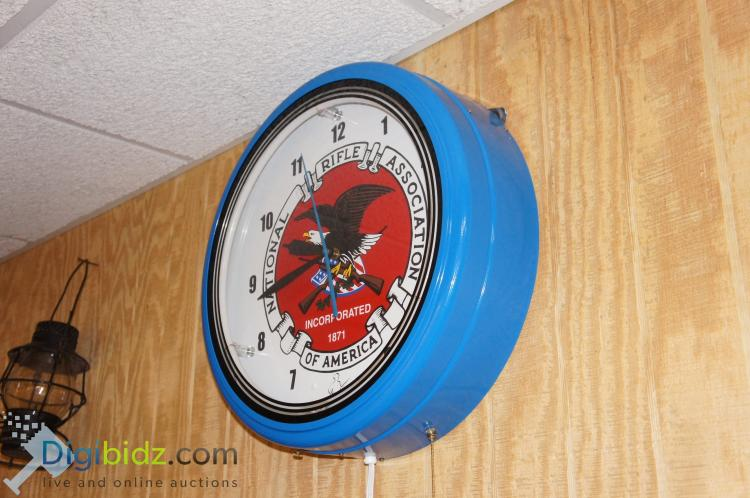 Lot 72: Lighted Large NRA Wall Clock