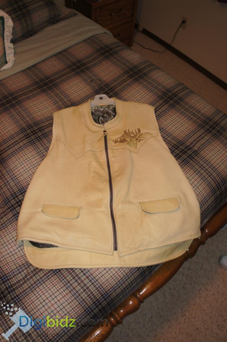 Custom Tailored Leather Vest - Bill Schiber