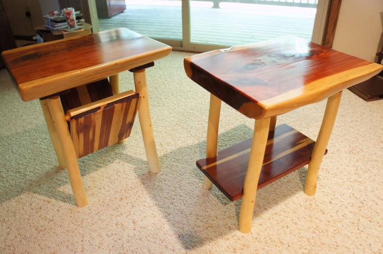 Timber Live Edge End Table Set