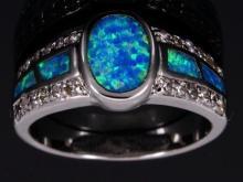 Stunning Fire Opal Ring