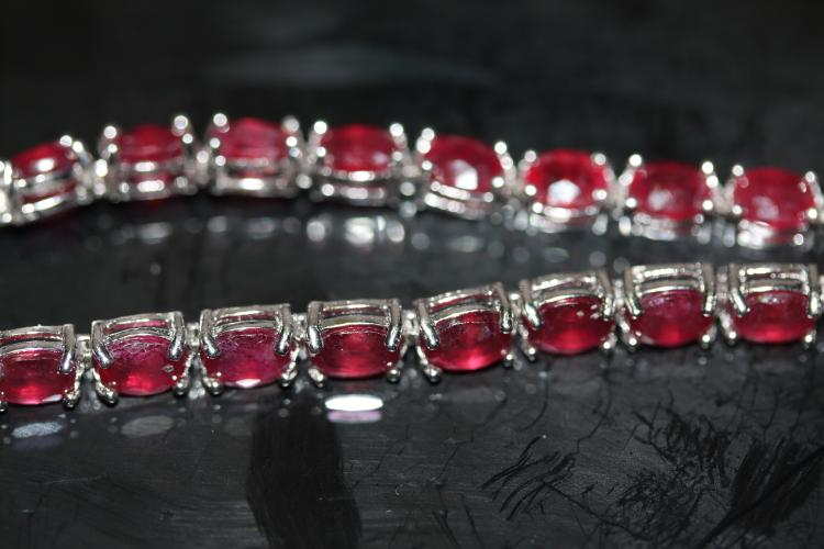 Natural Red Ruby 51 Carats Bracelet