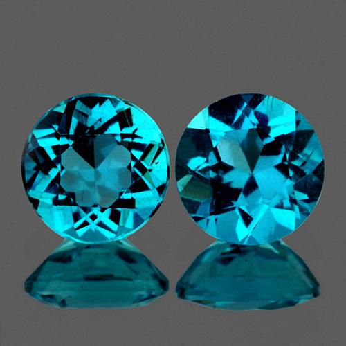 Natural Rare Brazil Blue Apatite 4.70 MM - VVS