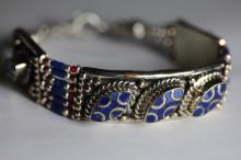 Tibet  Hand MadeLapiz Lazuli  Bracelet