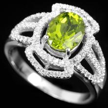 Natural Green Peridot Ring