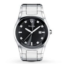 Bulova Black Dial Diamond Watch