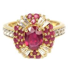 Genuine Red  Ruby Ring