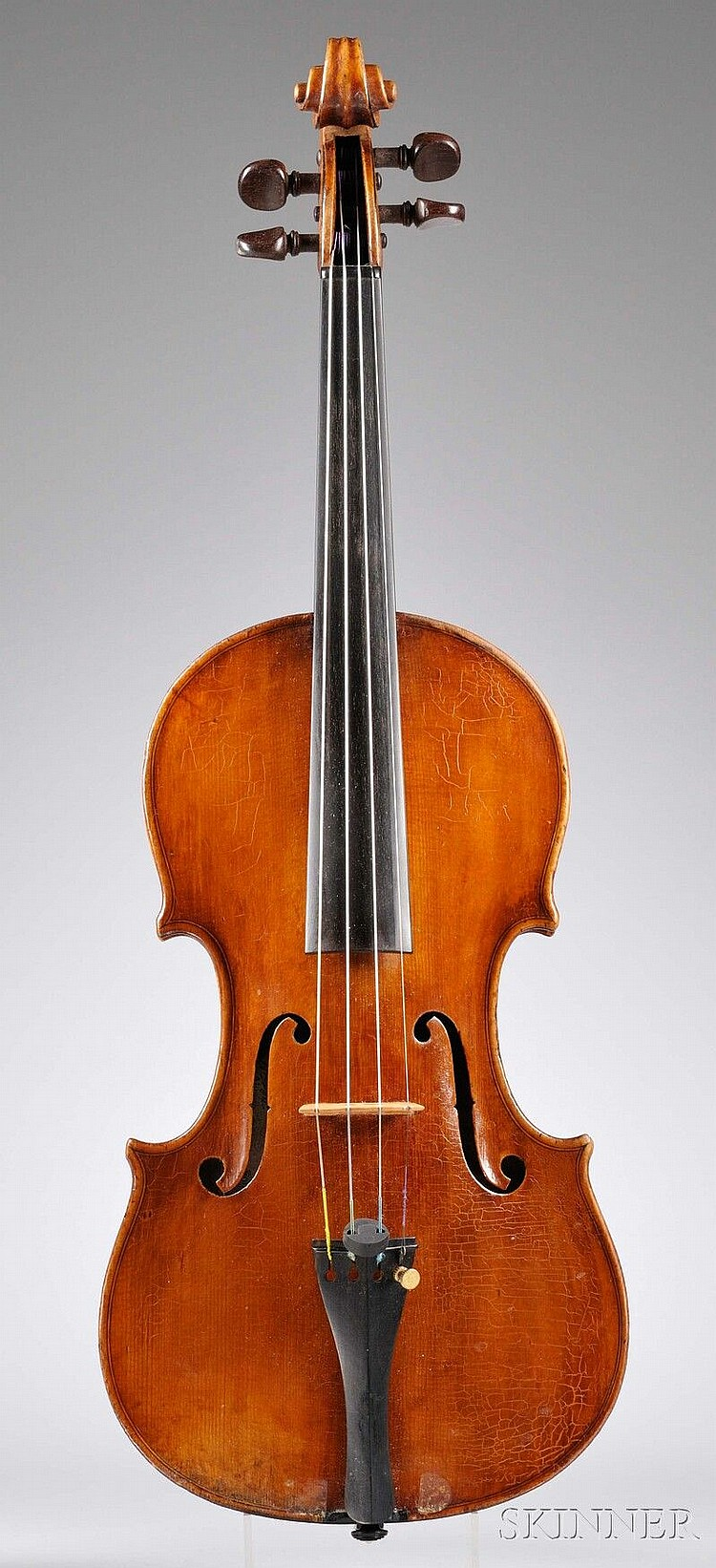 Italian Violin, labeled A GOTTI ALUNNO DI ETTORE SOFFRITI, FECE IN FERRARA L'ANNO 19??, the scroll probably later, length of back 355