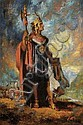 Jose Gamarra (Uruguayan, b. 1934), The Incan Chieftain., Signed