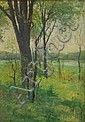Charles Chase Emerson (American, 1874-1922) Spring Landscape. Signed