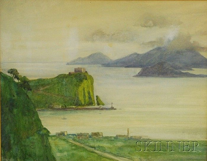 Eben Farrington Comins (American, 1875-1949) View to the Sea. Ciphered