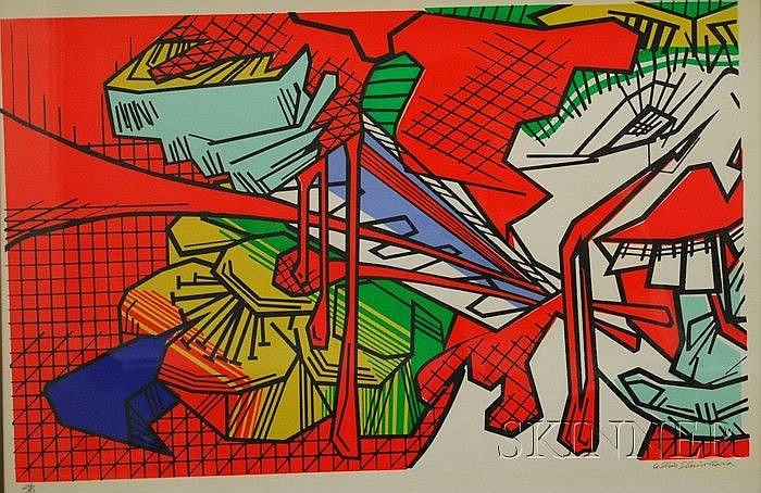 Ushio Shinohara (Japanese, b. 1932) Lot of Two Works: Kite and Kantana. Each signed