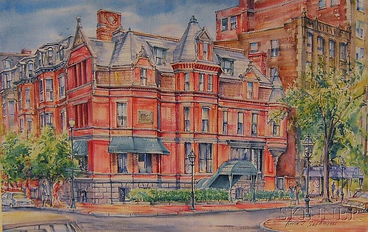Kevin J. Shea (American, 20th Century) Boston Street Scene. Signed and dated