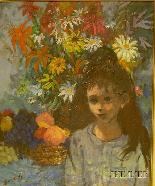 Louis Anthony Burnett (American, b. 1907), Young Girl, Signed
