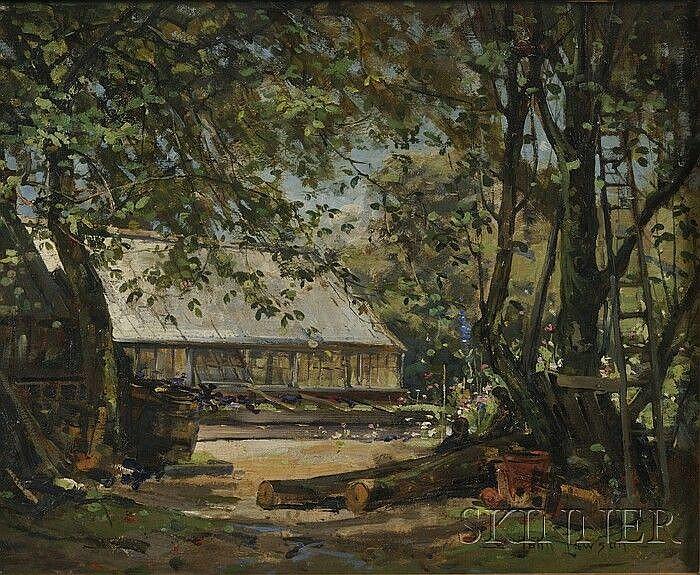 John Lawson (Scottish, 1868-1909), A Woodland Garden, Signed