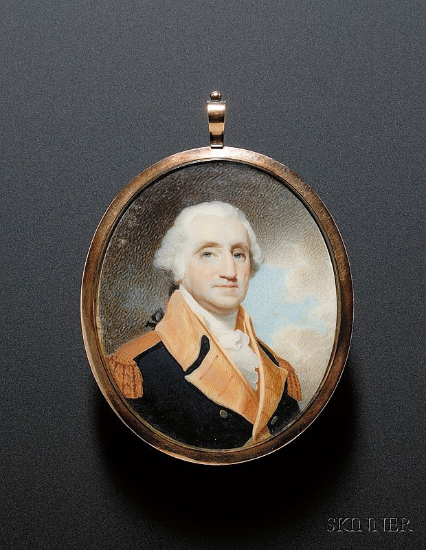 Portrait Miniature of George Washington, Robert Field (American, born in England, c. 1769-1819), signed and dated
