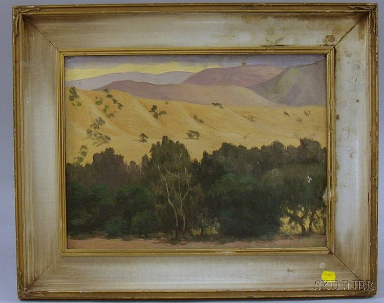 Lot of Three Framed Western Views, watercolor on paper/board by Prescott M.M. Jones (American, 1904-1981), inscrib...