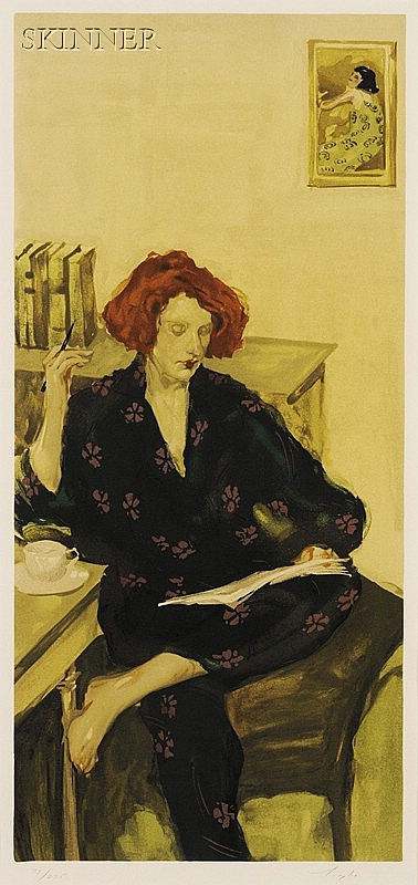 Malcolm T. Liepke (American, b. 1954) Morning Coffee, edition of 275 plus proofs. Signed
