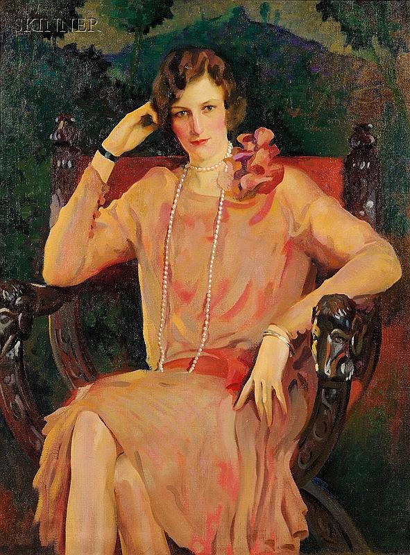 John Lavalle (American, 1896-1971) Miss Laetitia Orlandini (Mrs. Henry G. Nickerson) Si...