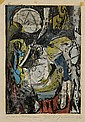 Adja Yunkers (Latvian/American, 1900-1983) Lot of Two Images: Head of a Traveler, 1952, editio..., Adja Yunkers, Click for value