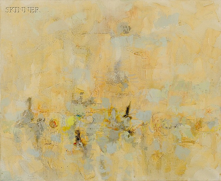 Pierre Jacquemon (French/American, 1936-2002) Abstract Landscape Signed