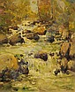 Henry Curtis Ahl (American, 1905-1996) River Rapids Signed