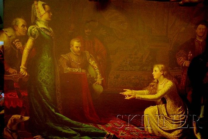 After Victor Bachereau-Reverchon (French, 1842-1885) Lady Jane Grey Before Queen Mary. Inscribed