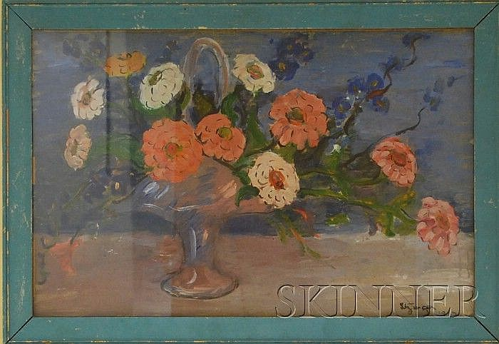 Dorothea M. Litzinger (American, 1889-1925) Floral Bouquet. Signed and dated