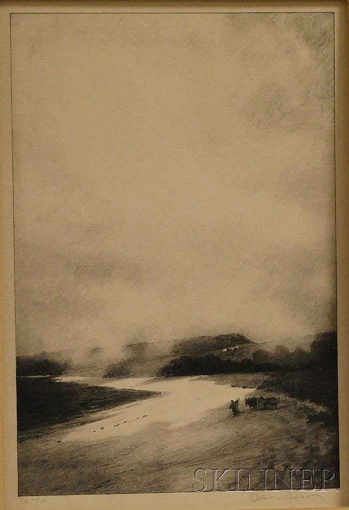 Albert Winslow Barker (American, 1874-1947) Rising Mist, Martha's Vineyard, 1927, edition of 50. Signed