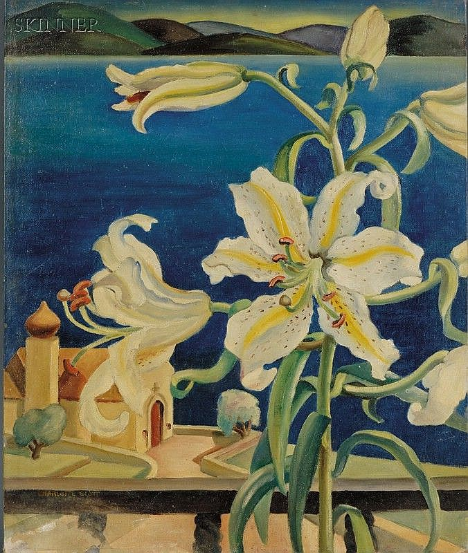 Charlotte Harrington Scott (American, b. 1905-1963), Lilies, Signed