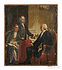 Constantino Brumidi (Italian/American, 1805-1880)  Study for George Washington with Jefferson and Hamilton, c. 1872. Unsigned. Oil on c, Constantino Brumidi, Click for value