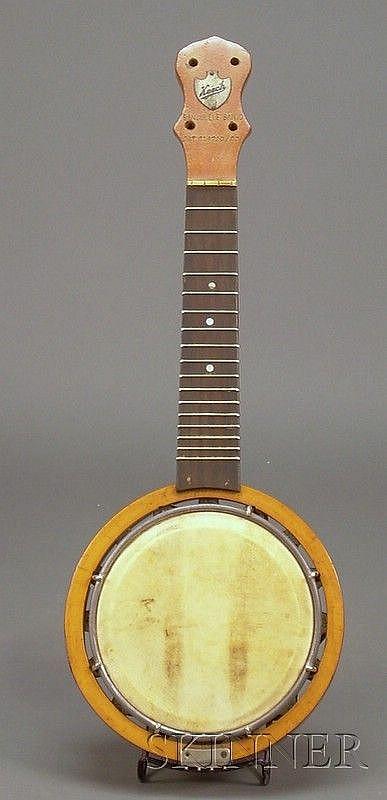 Modern Banjo-Ukulele, Alvin Keech, c  1920, the peghead with